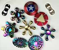 Rainbow Fidget Spinner Colourful Metal Hand Spin Fast Bearing Stress Toys