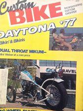 Custom Bike Magazine Daytona Bikini & Bikinis June 1977  122817nonrh