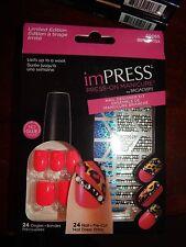 KISS Broadway imPRESS Nails, Press On Manicure Nail Designer Kit, Cha-Cha, Pink