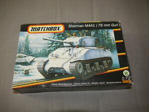 Matchbox 40181 Sherman M4A1 (76mm Gun) Plastic Model Kit 1:72 (K15)