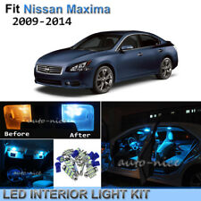 13pc Bright Ice Blue Interior LED Lights Package Kit For 2009-2014 Nissan Maxima