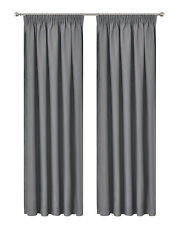 Pencil Pleat Blackout Drop Blockout Curtain Room Darkening  213cm Drop Pc/Pair