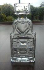 Riihimaki/Riihimaen Lasi Oy Glass Piironki Vase in Clear Glass - Helena Tynell