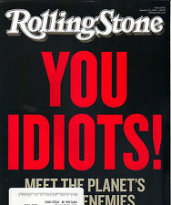 YOU IDIOTS GLOBAL WARMING Rolling Stone Magazine 1/21/10 PATTI SMITH