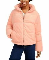 $119 Collection-B Women's Winter Jacket Blush Pink Corduroy Puffer Coat Size L