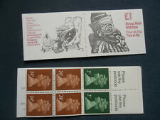 Fh23 Punch Doyle Hoffnung £1 Machin Stamp Booklet Incorrect Rate 39P 51P