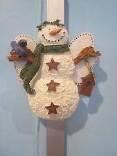 Cobble Creek Snowman Wreath Holder
