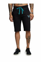 True Religion Men's Big T Horseshoe Active Sweat Shorts in Black