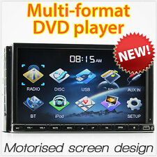 "7"" Car DVD MP3 MP4 Player Double DIN Stereo CD iPod Bluetooth USB Radio OZ AM FM"