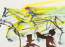Salvador Dali - Race Horse (signed lithograph, 1983)