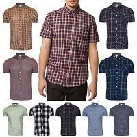 Men's Next Branded Check Printed Shirt Short Sleeve Shirt Casual Designer Shirt