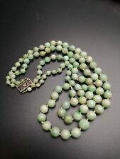 Jade For Restring 65 Gram Antique Double Strand Necklace Of Fine
