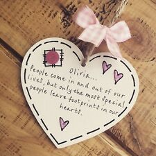 Personalised Foster Baby Girl Plaque Quote Poem Memory Gift Leaving Loss Friend