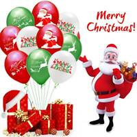 5/10x Latex Ballons Weihnachtsmann Elch Ballon Eve Party Decor Frohe Weihnachten