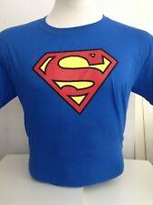 Superman Men's Logo T-shirt Blue Large