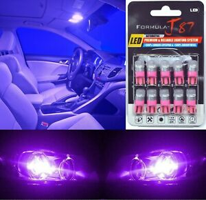 LED 5050 Light Purple 12000K 168 Ten Bulbs Interior Step Door Replace Stock Lamp