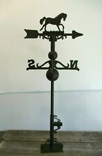 CAST IRON HORSE WEATHERVANE WEATHER VANE FENCE MOUNT GARDEN FARM BARN