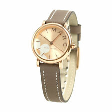 Marc Jacobs Women's Rose Gold Watch With Leather Band MJ1621 NIB
