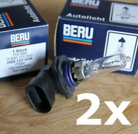 2x Beru 12V 60W HB3 Halogen Glühlampe Autolampe Glühbirne P20d