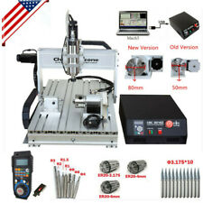 22kw 4 Axis Cnc Router 6040 Mach3 Usb Engraving Cutting Drilling Diy Machine Us