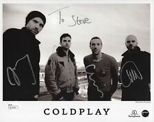 COLDPLAY HAND SIGNED 8x10 PHOTO   SIGNED BY WHOLE BAND     SIGNED TO STEVE   JSA