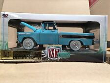 M2 MACHINE 1:24 1958 CHEVROLET APACHE CAMEO PICKUP TRUCK TURQUOISE 40300-43A