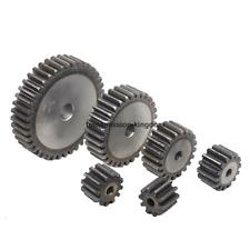 3M10T-30T 45# Steel Spur Gear Metal Module 3 Moter Gear Wheel 10-30 Tooth