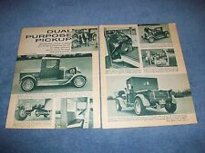 "1929 Ford Model A Pickup Vintage Hot Rod Article ""Dual Purpose Pickup"""