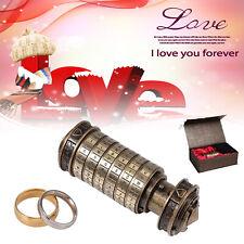 Mini Da Vinci Code Cryptex Lock Box Creative Romantic Annversary/Birthday Gifts
