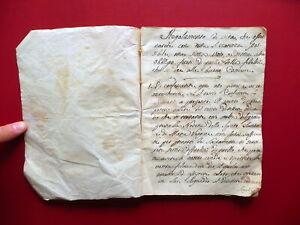 Manoscritto Regolamento di Vita Buone Cristiane Educazione Fine '700