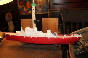 "Vintage 1950's Eldon Plastics W-32 Battleship or Destroyer 25"""