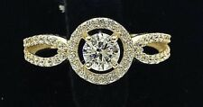 F COLOR F/VS2 1.00 CT ROUND CUT DIAMOND ENGAGEMENT WEDDING RING WITH CERTIFICATE