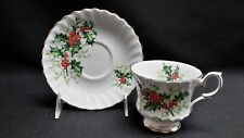 Queen Anne England Bone China Yuletide - Cup & Saucer