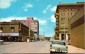 Postcard Wolcott Street in Casper, Wyoming~136496