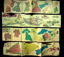 1940's Mopsy Modes & Brenda Sunday Newspaper Paper Dolls Lot Of 4 Gladys Parker
