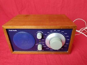 Tivoli Audio Henry Kloss Model One AM/FM Desktop Walnut Blue Cabinet Wall