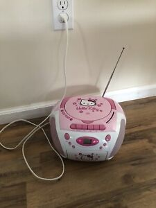 2006 Hello Kitty CD/Cassette Player KT2028B Radio Tape Player - READ DESC!