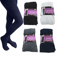 3 Pairs Girls Cotton Rich Uniform School Tights Warm Thick Soft Age 2-12 Years
