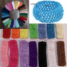 "CHIC 10pcs 1.5"" Crochet Headbands Hair Hairband Bow Kid Baby Toddler On Sale!"