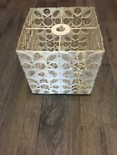 Metal Cream Beaded Light Shade VGC