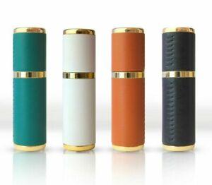 10ml Parfum Bouteilles Artisanat Cuir de Luxe Mini Métal Portable Spray Recharge