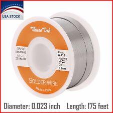 "60/40 Tin Lead Rosin Core Solder Wire Soldering Sn60 Pb40 Flux 0.023""/0.6mm 4oz"