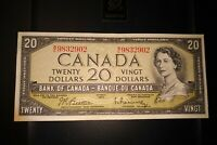 1954 $20 Dollar Bank of Canada Banknote WE9832902