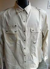 VTG Ralph Lauren 1967 Safari Style LS Heavy Cotton Shirt Beige SZ 2XL