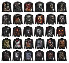 SPIRAL DIRECT Mens Rock/Biker/Dragon/Skull/Reaper/Steampunk/Long Sleeve/T Shirt