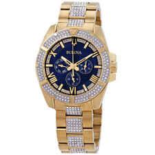 Bulova Crystal Blue Dial Multifuncrtion Men's Watch 98C128