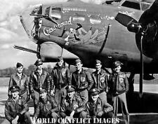 WW2 B-17 Bomber Chowhound Crew 8x10 Nose Art Photo 322nd BS 91st BG WWII