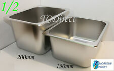 Stainless Steel Bain Marie Tray Pan GN 1/2 200mm deep for Gastronorm
