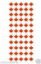"110 Red Vinyl Canada Canadian Maple Leaf Stickers 3/4"" FREE SHIPPING #D24"
