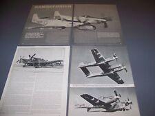 VINTAGE..RF-82B TWIN MUSTANG CAMERA SHIP..STORY/HISTORY/PHOTOS..RARE! (925)
